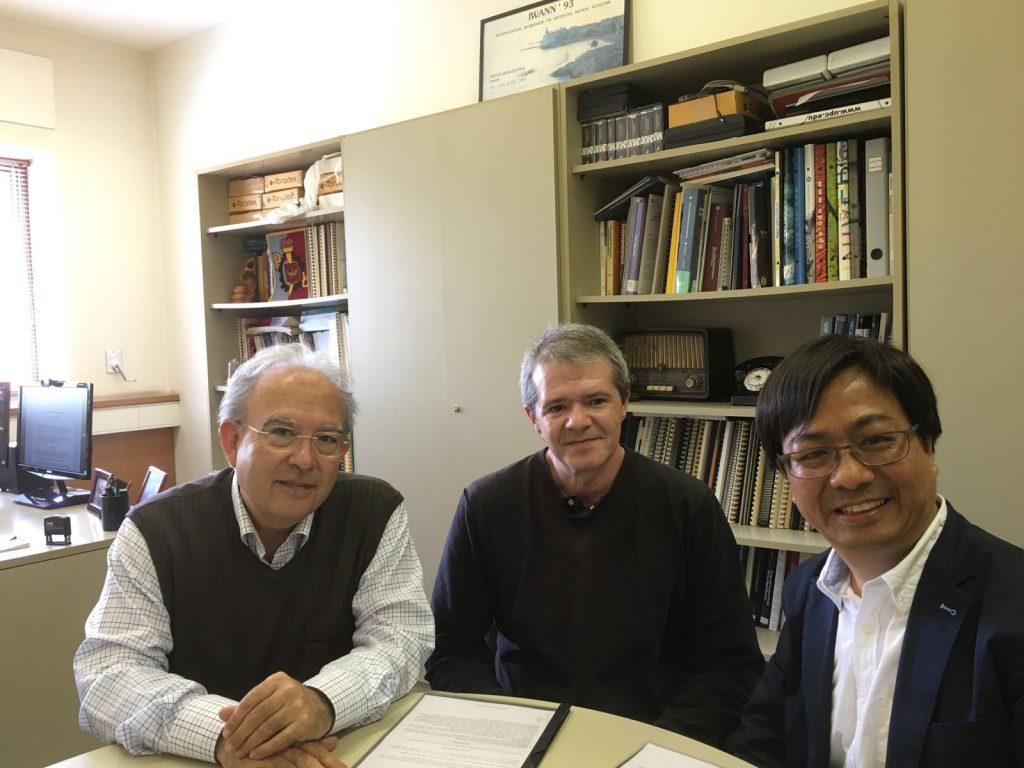 Professor Joan Cabestany, Professor J. Manuel Moreno Arostegui and Dr. Philip Fung